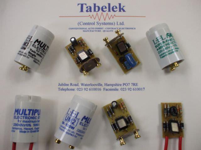 Fluorescent starter with condenser